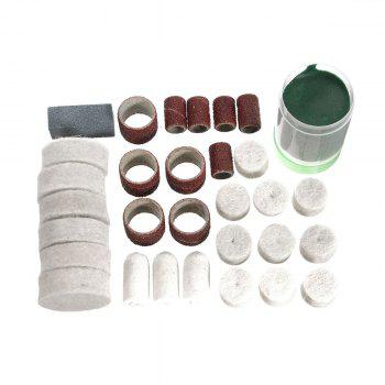 223PCS/SET Rotary Power Tool Accessory Bits 1/8 Sanding Polishing Cutting Accessory Kit for Woodwoking Dremel Grinding Hobby Drill with Storage Box - AS THE PICTURE AS THE PICTURE