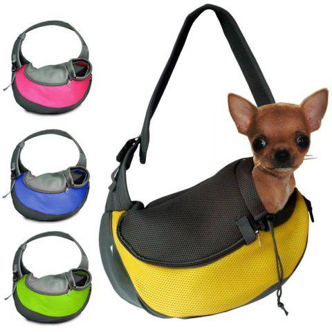 Portable Pet Pure Color Outside Single Shoulder Bag Handbag - PINK S