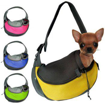 Portable Pet Pure Color Outside Single Shoulder Bag Handbag - BLUE BLUE