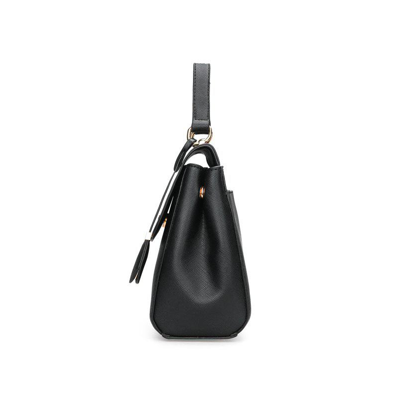 Fashionable Simple Wild Shoulder Messenger Bag - BLACK
