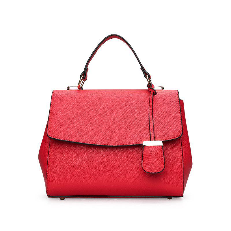 Fashionable Simple Wild Shoulder Messenger Bag - RED