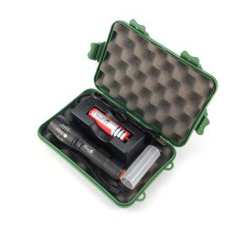 UltraFire MINI - A100 XML-T6 560LM 5-Position Retractable Light Flashlight Kit - BLACK