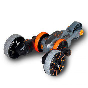 Attop Y6 Rechargeable Telecontrol Stunt Climbing Rotation Car with Five Wheel - GREY AND ORANGE GREY/ORANGE
