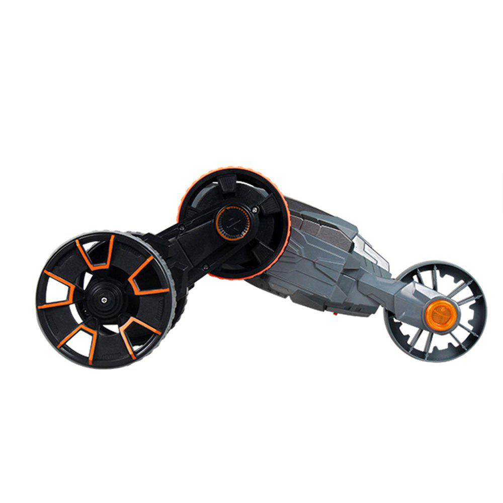 Attop Y6 Rechargeable Telecontrol Stunt Climbing Rotation Car with Five Wheel - GREY/ORANGE