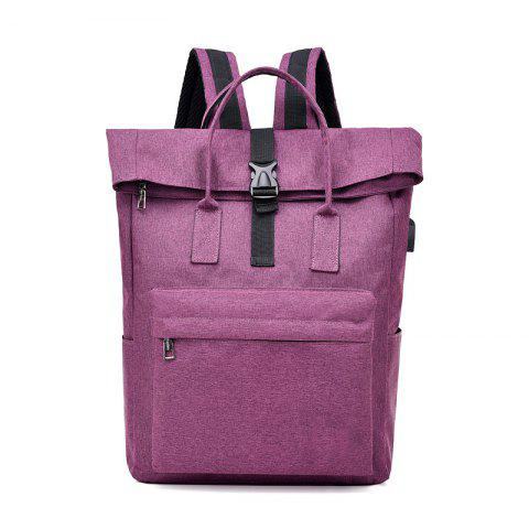 Backpack Large-Capacity Travel Computer Bag - PURPLE