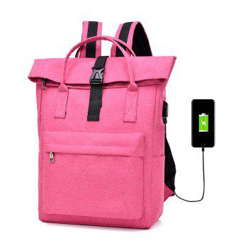 Backpack Large-Capacity Travel Computer Bag - ROSE RED
