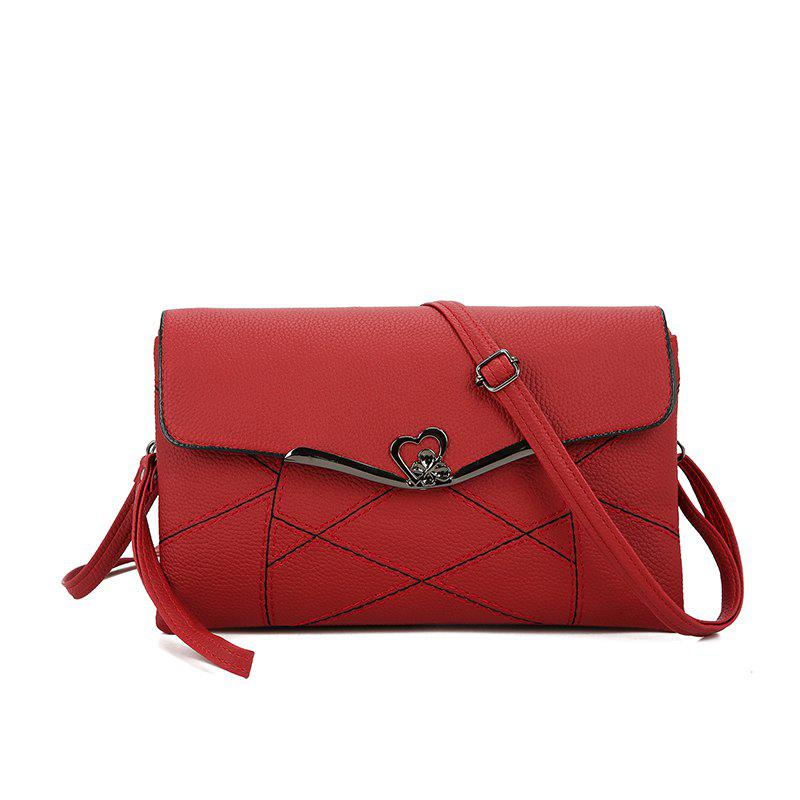 Clutch Large Capacity Envelope Handbag Handbag - RED