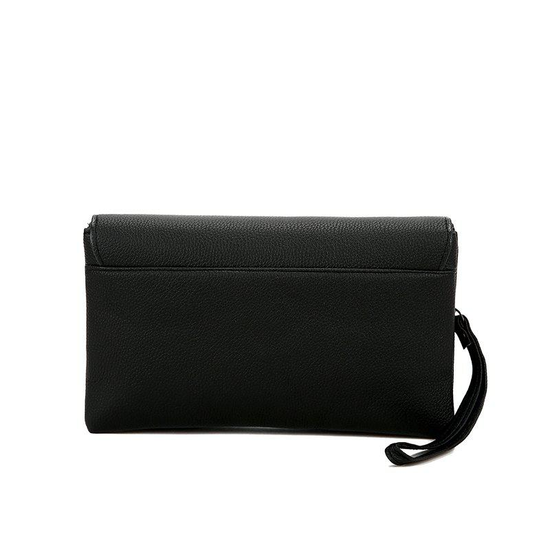 Clutch Large Capacity Envelope Handbag Handbag - BLACK