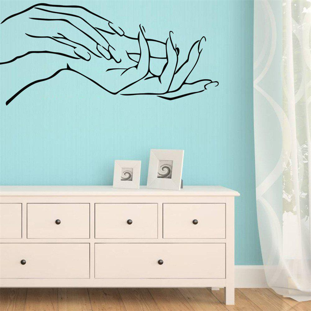 Beautiful Hand Art Wall Stickers Home Decoration Waterproof Removable Decals - BLACK
