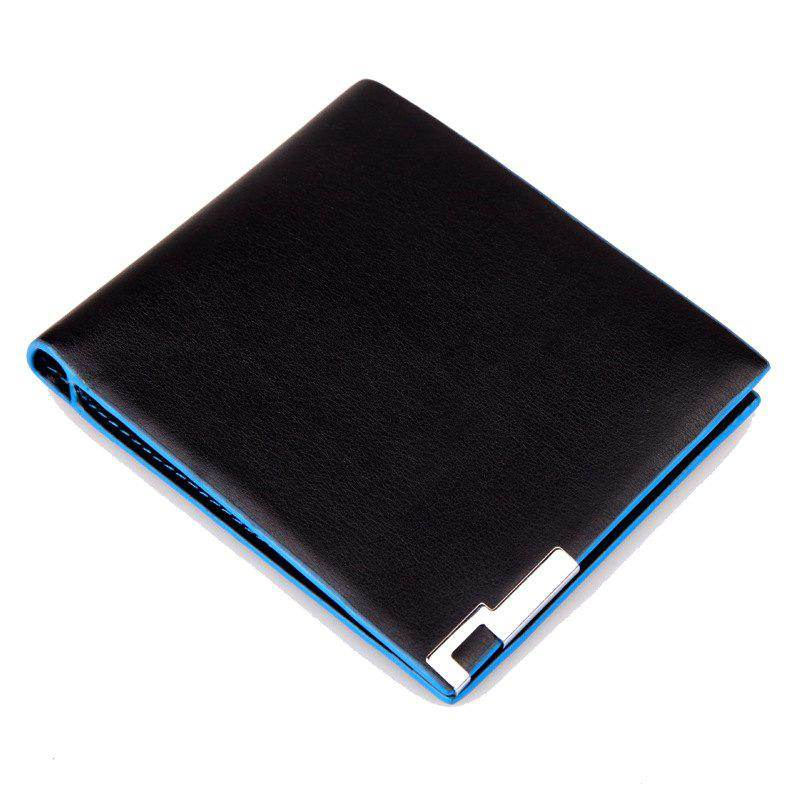 Men'S Wallet Korean Hit Color Purse A007 Blue Short - SAPPHIRE BLUE