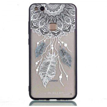 for Huawei P10 Lite Relievo Three Feathers Soft Clear TPU Phone Casing Mobile Smartphone Cover Shell Case - COLOUR