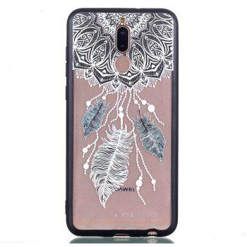 for Huawei Mate10 Lite Relievo Three Feathers Soft Clear TPU Phone Casing Mobile Smartphone Cover Shell Case - COLOUR