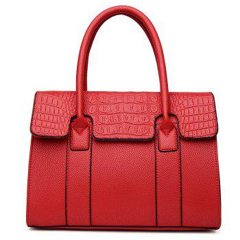 Female  Portable Oblique Across Fashion Bags - RED RED