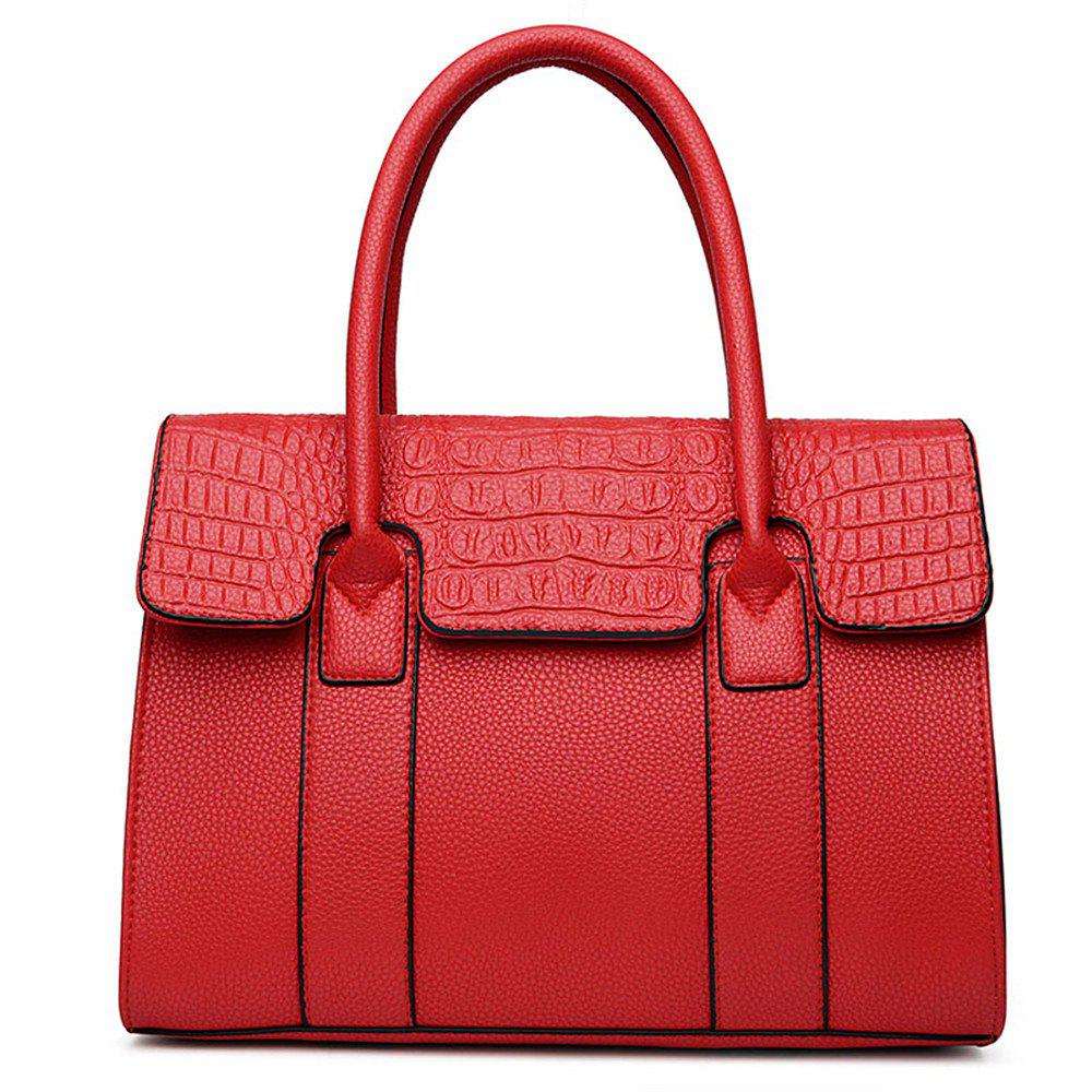 Female  Portable Oblique Across Fashion Bags - RED