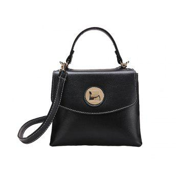Female Fashion Simple Wild Portable Shoulder Messenger Small Square Package - BLACK BLACK