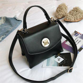 Female Fashion Simple Wild Portable Shoulder Messenger Small Square Package - BLACK