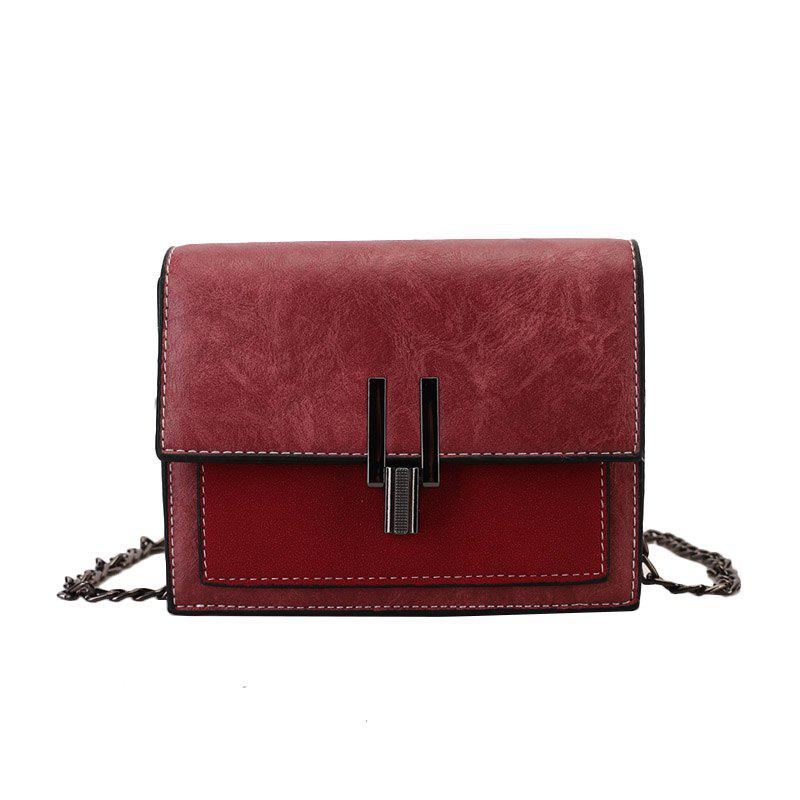 Fashion Wild Girls Shoulder Messenger Bag - RED