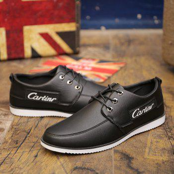 New Solid Color Casual Shoes - BLACK 44