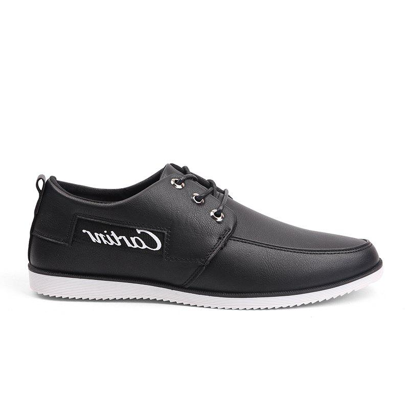New Solid Color Casual Shoes - BLACK 40