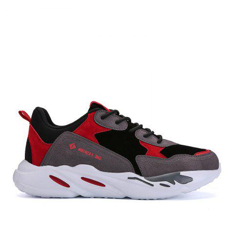 New Cushion Fight Color Sports Shoes - BLACK/RED 42