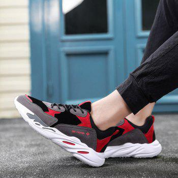 New Cushion Fight Color Sports Shoes - BLACK/RED 43