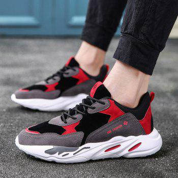 New Cushion Fight Color Sports Shoes - BLACK/RED 44