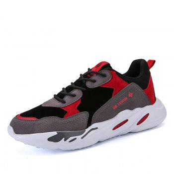 New Cushion Fight Color Sports Shoes - BLACK/RED BLACK/RED