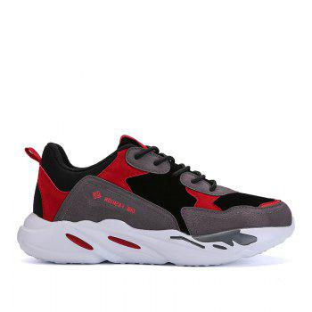 New Cushion Fight Color Sports Shoes - BLACK AND RED BLACK/RED