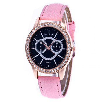 Zhou Lian Hair Brand Is Studded with Rivet Fashionable Belt Watch - PINK PINK