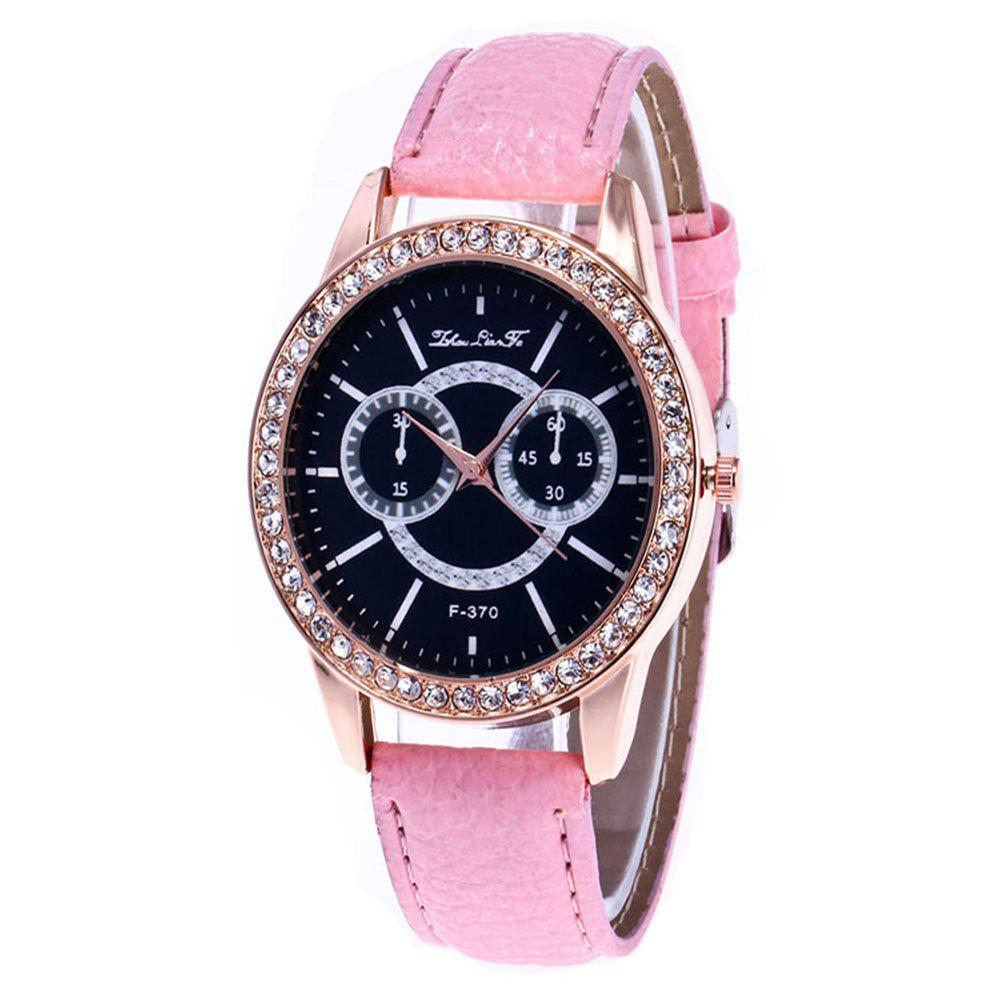 Zhou Lian Hair Brand Is Studded with Rivet Fashionable Belt Watch - PINK