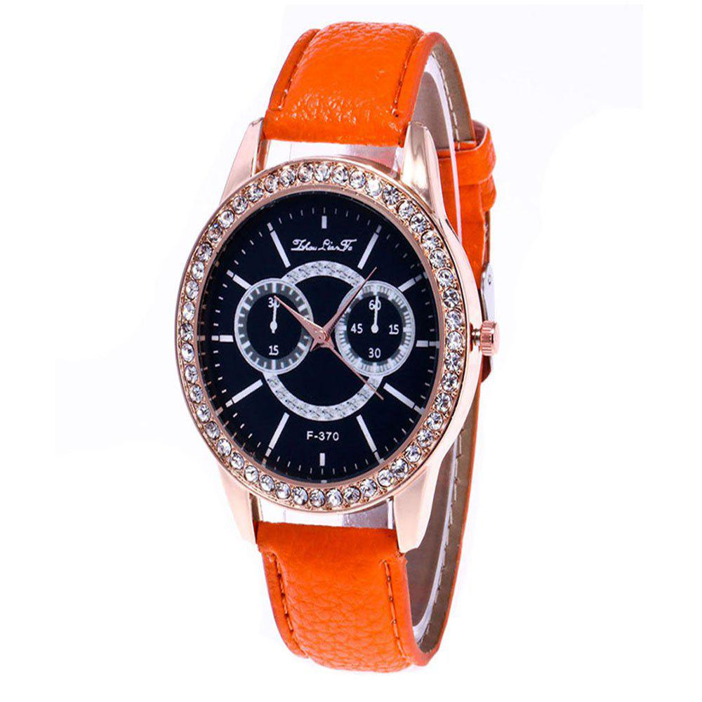Zhou Lian Hair Brand Is Studded with Rivet Fashionable Belt Watch - ORANGE