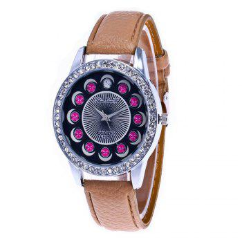 Zhou Lianfa Brand Diamond-encrusted Leather Watch - PALOMINO PALOMINO