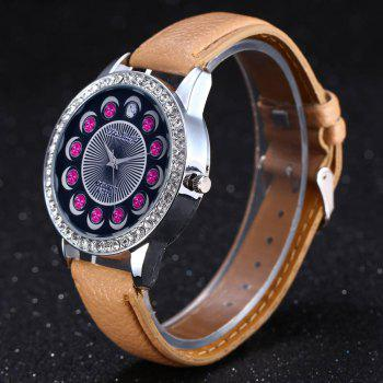 Zhou Lianfa Brand Diamond-encrusted Leather Watch -  PALOMINO