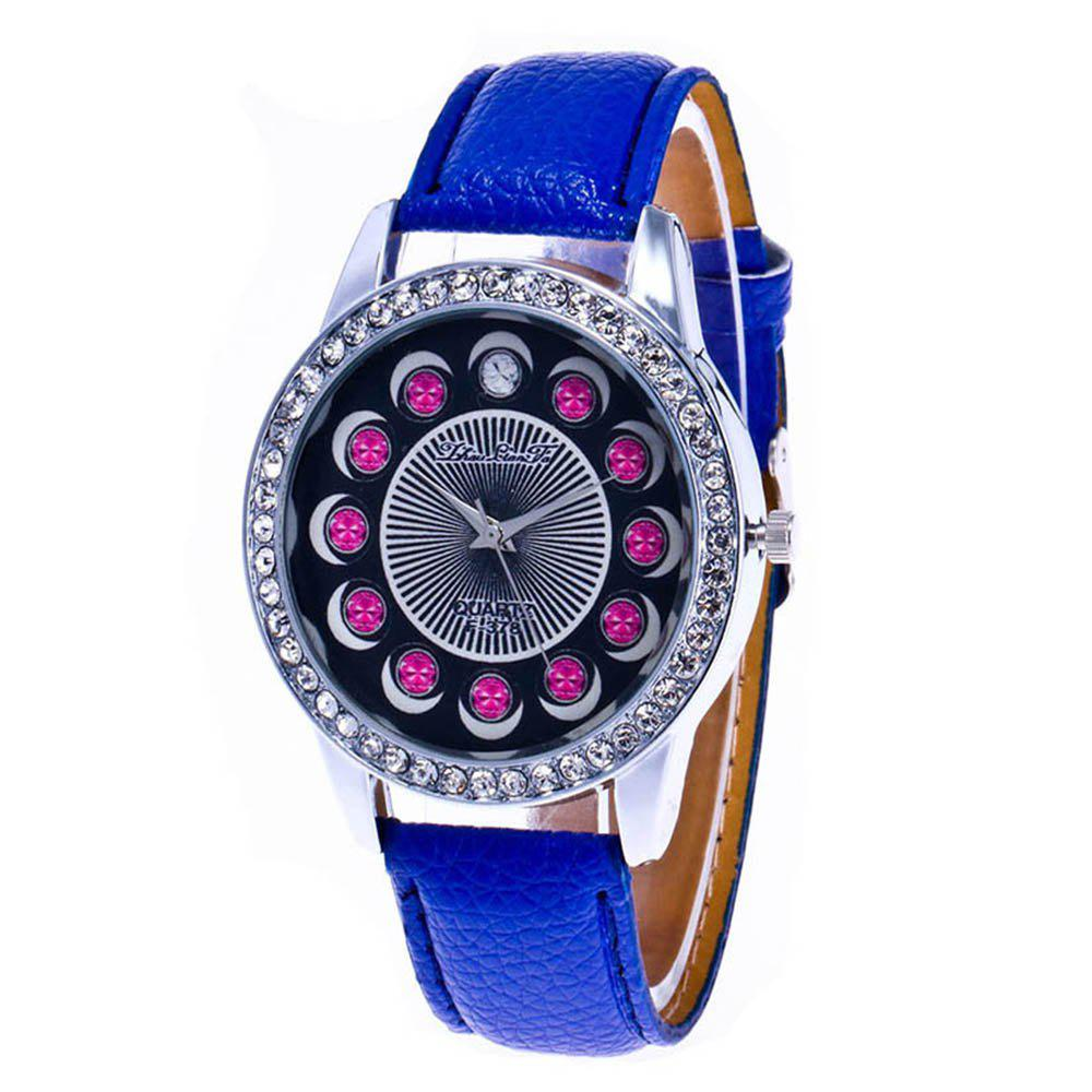 Zhou Lianfa Brand Diamond-encrusted Leather Watch - ROYAL