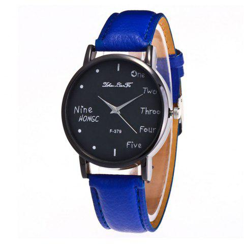 Zhou Lianfa Simple Casual Black Watch - ROYAL