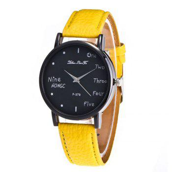 Zhou Lianfa Simple Casual Black Watch - YELLOW YELLOW