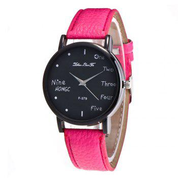Zhou Lianfa Simple Casual Black Watch - ROSE RED ROSE RED