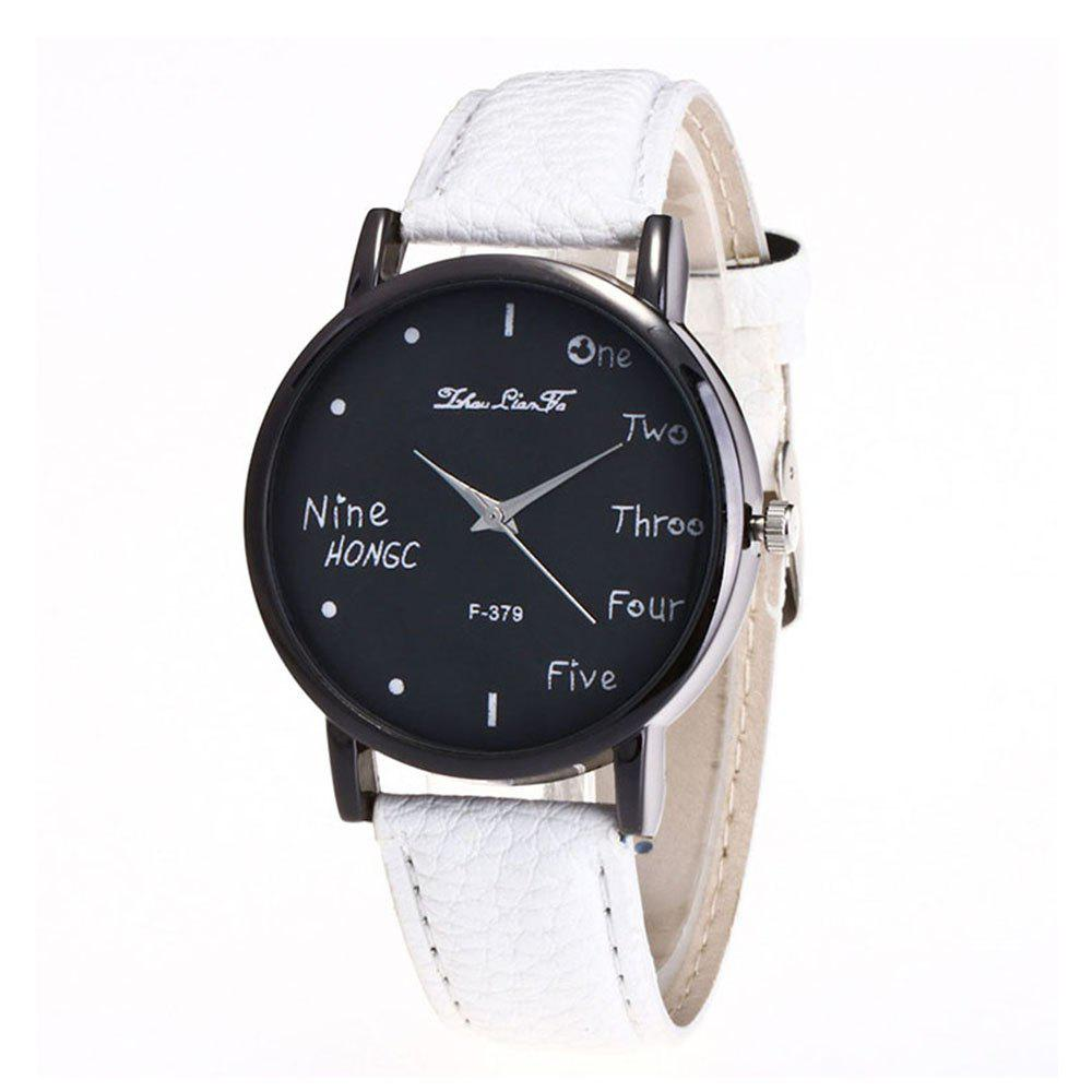 Zhou Lianfa Simple Casual Black Watch - WHITE