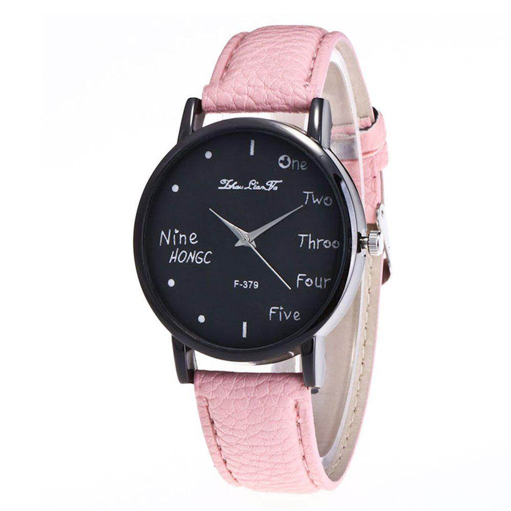 Zhou Lianfa Simple Casual Black Watch - PINK