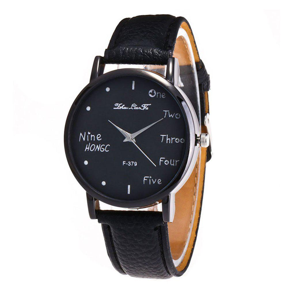 Zhou Lianfa Simple Casual Black Watch - BLACK