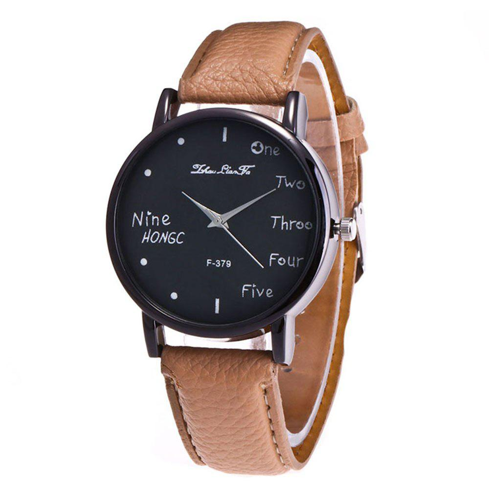 Zhou Lianfa Simple Casual Black Watch - PALOMINO