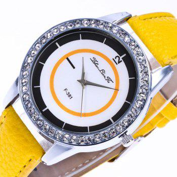 Zhou Lianfa Fashion Trend Personality Leisure Watch - YELLOW