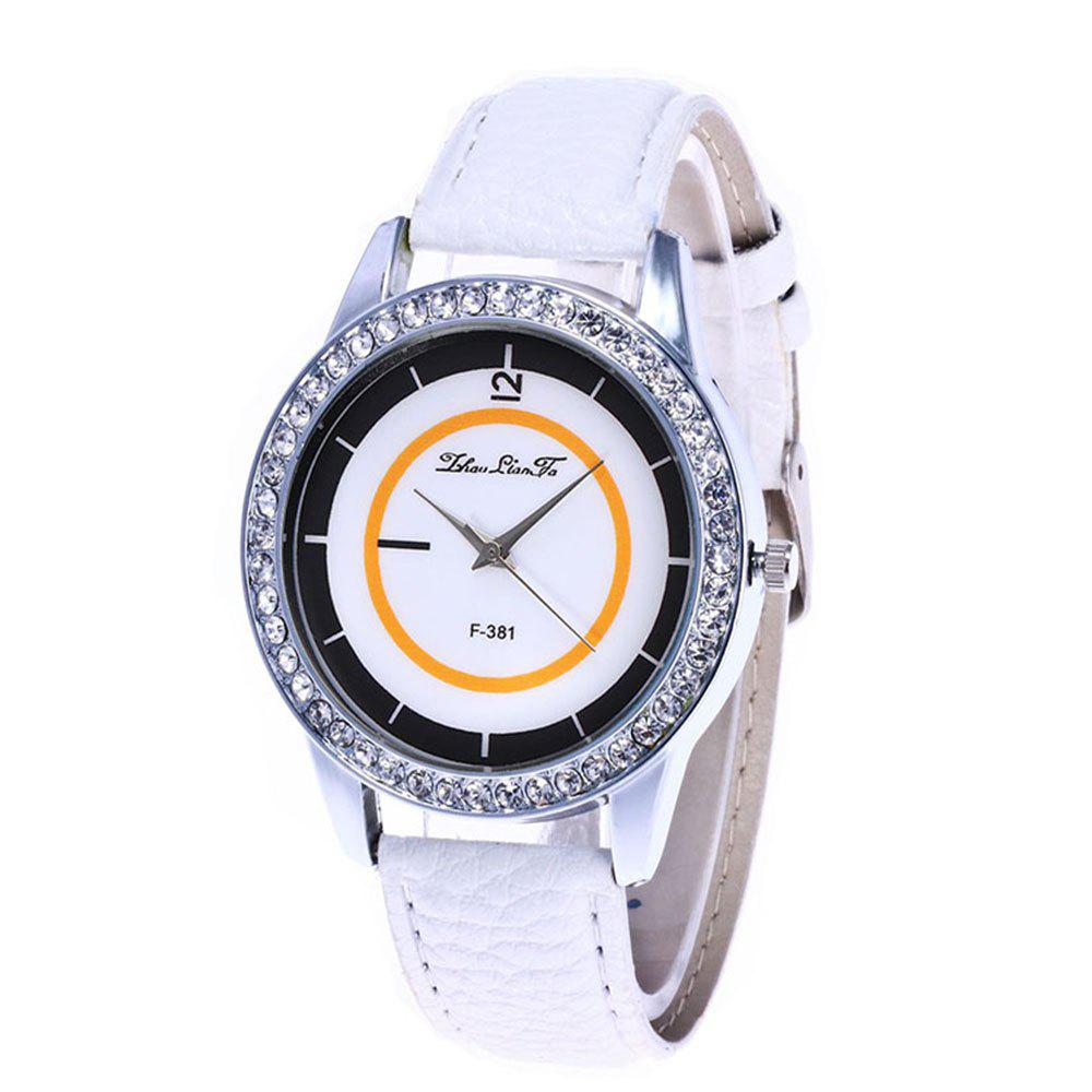 Zhou Lianfa Fashion Trend Personality Leisure Watch - WHITE