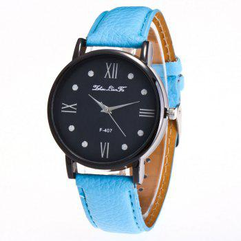 Zhou Lianfa Brand Litchi Fashion Watch - LIGHT BLUE LIGHT BLUE