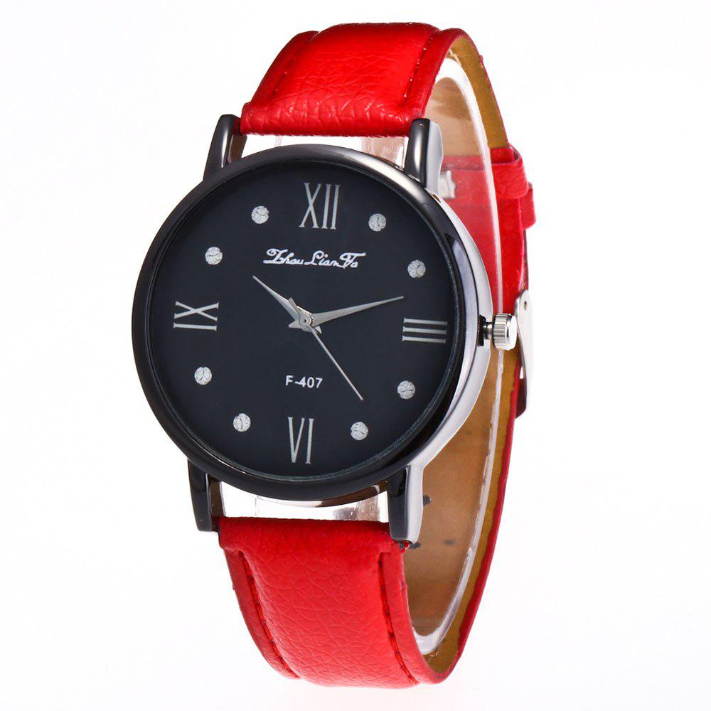 Zhou Lianfa Brand Litchi Fashion Watch - RED