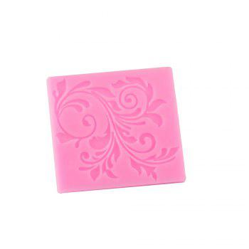 Leaf Pattern Lace Silicone Cake Mold - PINK