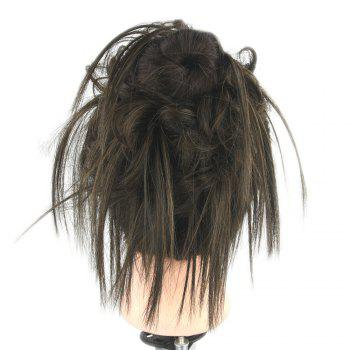 Trendy Hair Ring High Temperature Wire Wig Flower Bud - BLACK