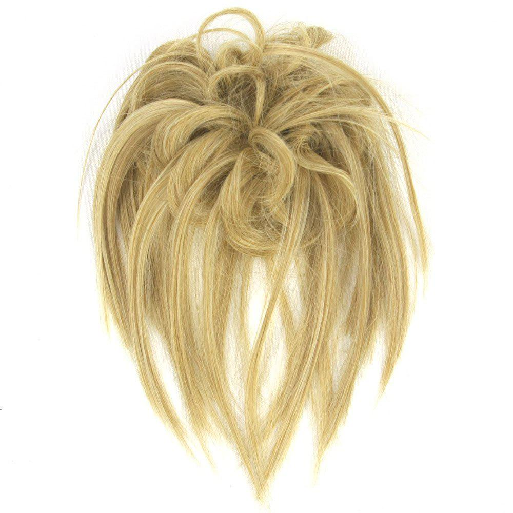 Trendy Hair Ring High Temperature Wire Wig Flower Bud - GOLDEN