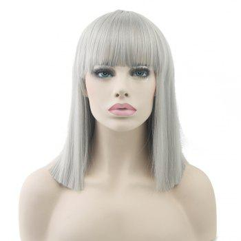 Colorful Hair BoBo Cospoay Wig - SILVER SILVER