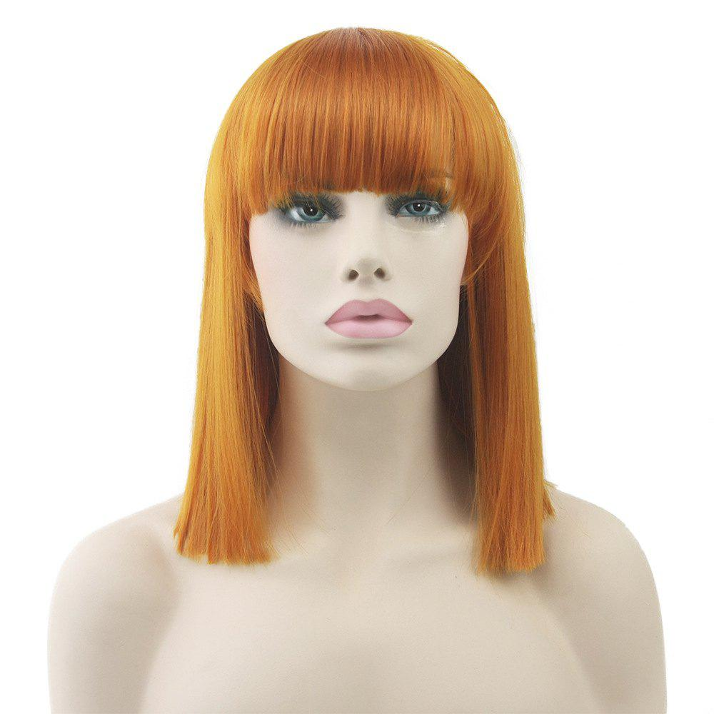 Colorful Hair BoBo Cospoay Wig - ORANGE